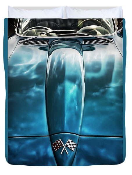 Classic Muscle - Corvette Roadster Duvet Cover