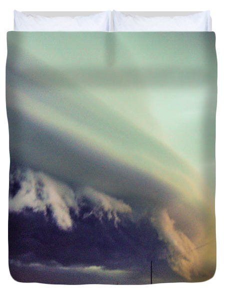 Classic Nebraska Shelf Cloud 024 Duvet Cover