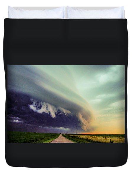 Classic Nebraska Shelf Cloud 024 Duvet Cover