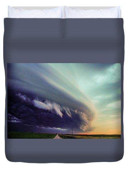 Classic Nebraska Shelf Cloud 027 Duvet Cover