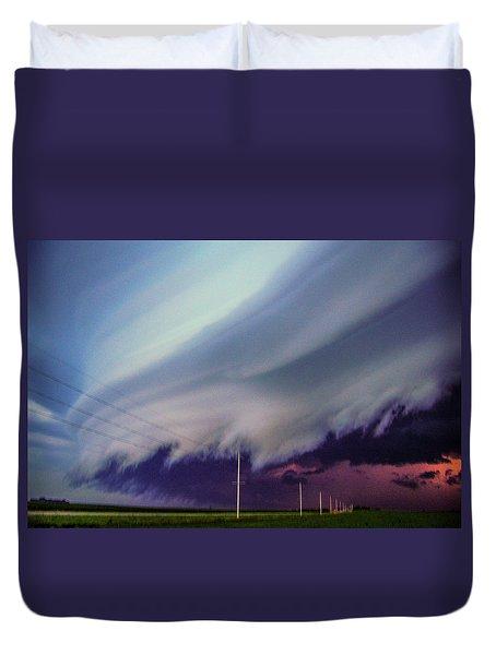 Classic Nebraska Shelf Cloud 028 Duvet Cover