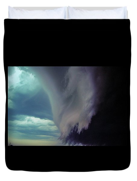 Classic Nebraska Shelf Cloud 029 Duvet Cover
