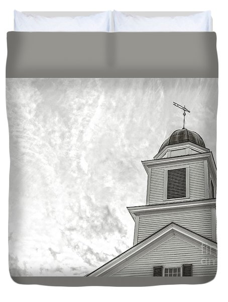 Duvet Cover featuring the photograph Classic New England Church Etna New Hampshire by Edward Fielding