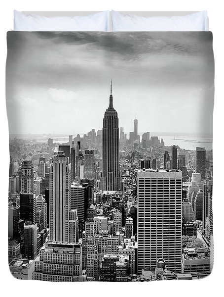 Classic New York  Duvet Cover by Az Jackson