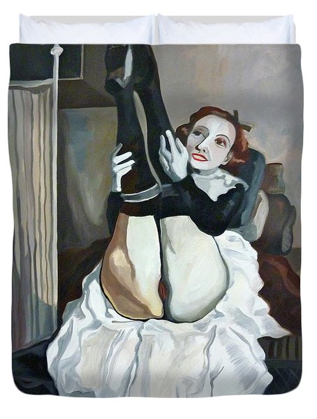 Classic Nude 6 Duvet Cover by Carmen Stanescu Kutzelnig