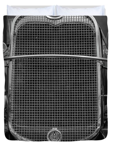 Duvet Cover featuring the photograph Classic Old Ford Car Model A by Edward Fielding