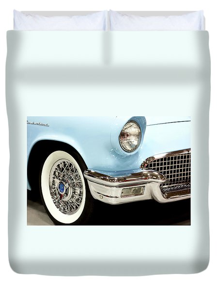 Classic Powder Blue Thunderbird  Duvet Cover