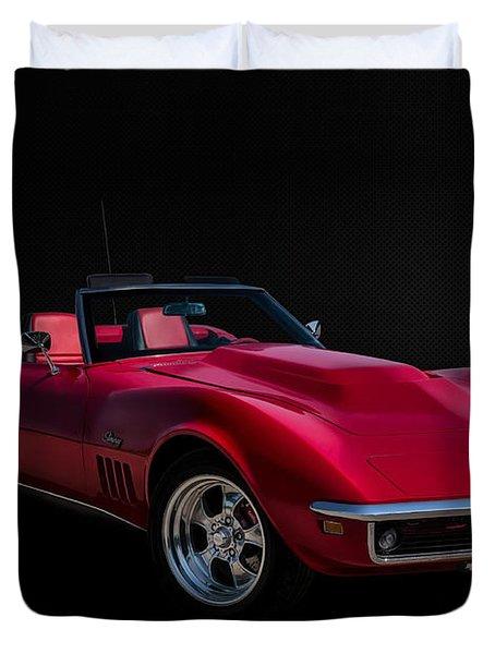 Classic Red Corvette Duvet Cover