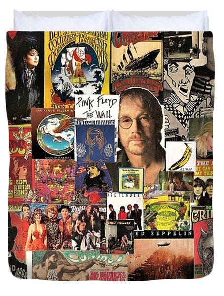 Classic Rock 2 Collage Duvet Cover