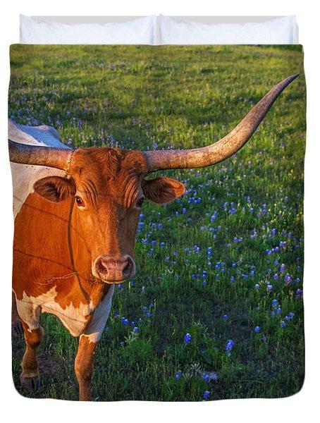 Classic Spring Scene In Texas Duvet Cover