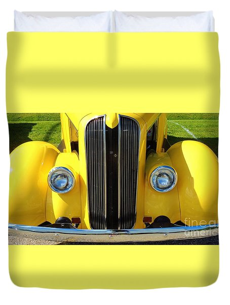 My Ride's Here Duvet Cover