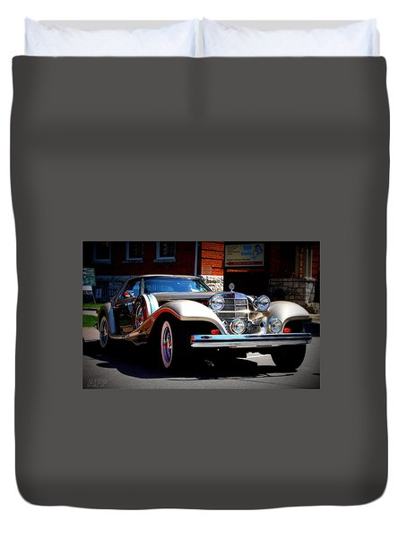 Duvet Cover featuring the photograph Classic Streets by Al Fritz
