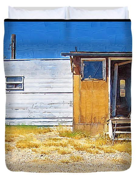 Duvet Cover featuring the photograph Classic Trailer by Susan Kinney