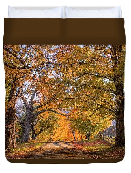Classic Vermont Fall Duvet Cover