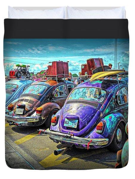 Classic Volkswagen Beetle - Old Vw Bug Duvet Cover