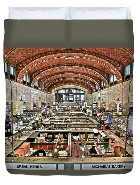 Classic Westside Market Duvet Cover by Frozen in Time Fine Art Photography