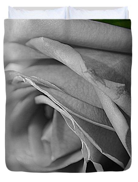 Classic White Rose Duvet Cover