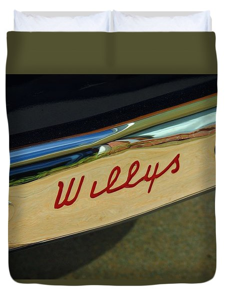 Classic Willys Jeep Duvet Cover