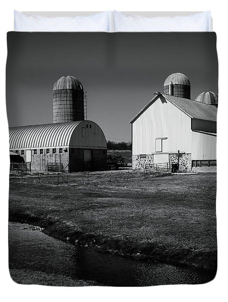 Classic Wisconsin Farm Duvet Cover