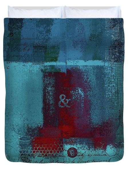 Duvet Cover featuring the digital art Classico - S03b by Variance Collections