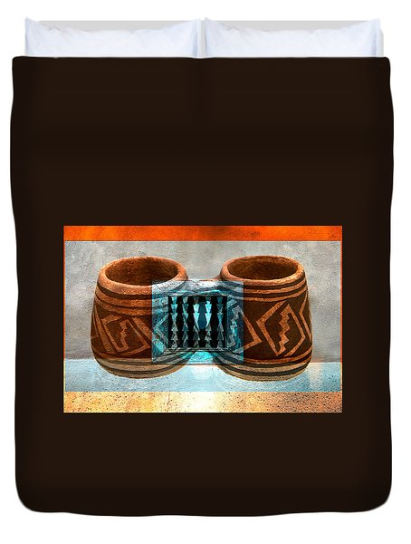 Duvet Cover featuring the digital art Classsic Designs Of The Southwest by David Lee Thompson