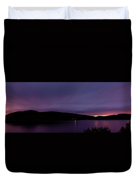 Clatteringshaws After Sunset. Duvet Cover