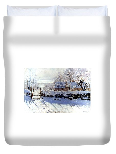 Claude Monet The Magpie - To License For Professional Use Visit Granger.com Duvet Cover