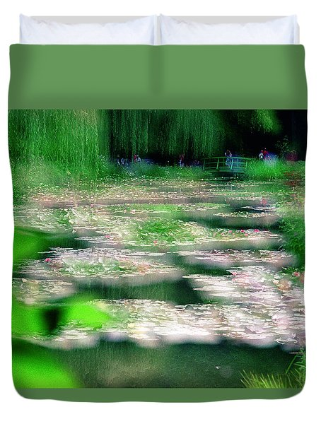 Duvet Cover featuring the photograph Claude Monets Water Garden Giverny 1 by Dubi Roman