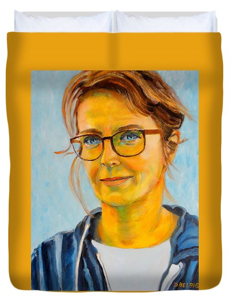 Claudia-portrait Duvet Cover
