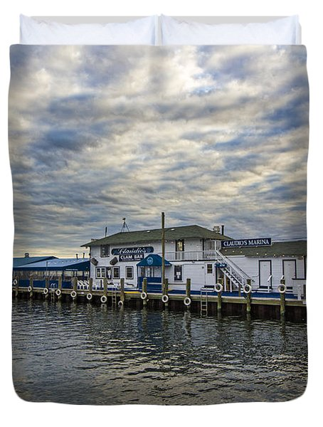 Claudio's Dock Duvet Cover
