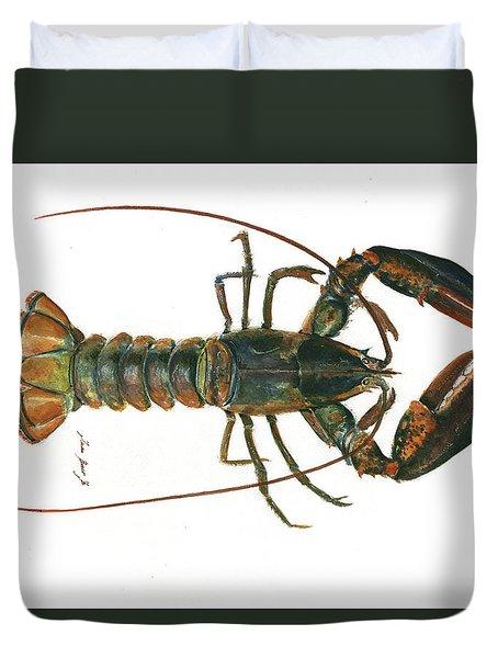 Clawed Lobster Art Duvet Cover