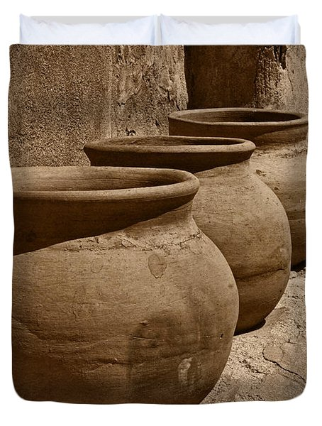 Clay Pots At Tumaca'cori Tnt Duvet Cover