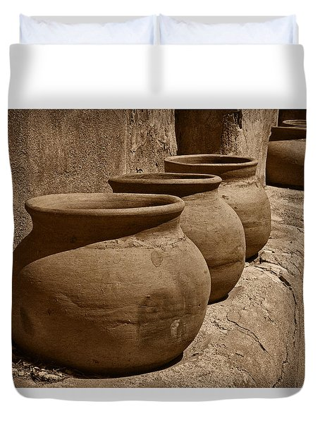 Clay Pots At Tumaca'cori Tnt Duvet Cover