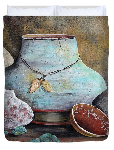 Clay Pottery Still Lifes-b Duvet Cover