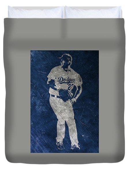 Clayton Kershaw Los Angeles Dodgers Art Duvet Cover