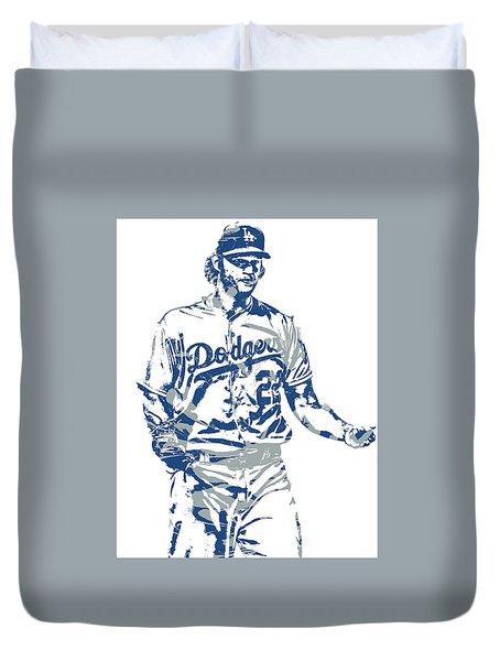 Clayton Kershaw Los Angeles Dodgers Pixel Art 10 Duvet Cover