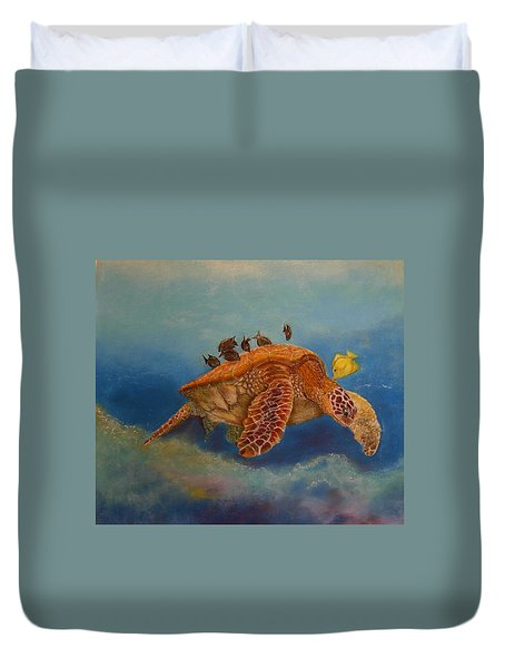 Cleaning Station Duvet Cover by Ceci Watson