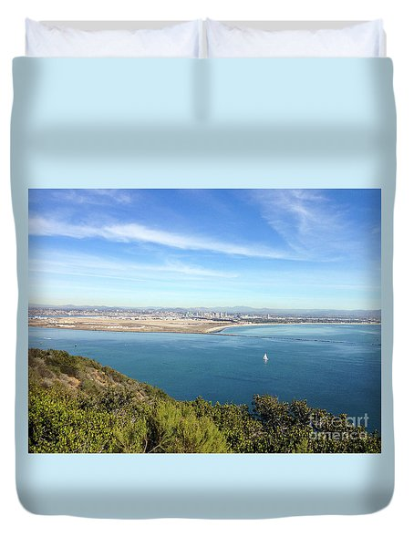 Clear Blue Sea Duvet Cover