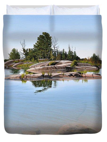 Clear Contentment Duvet Cover