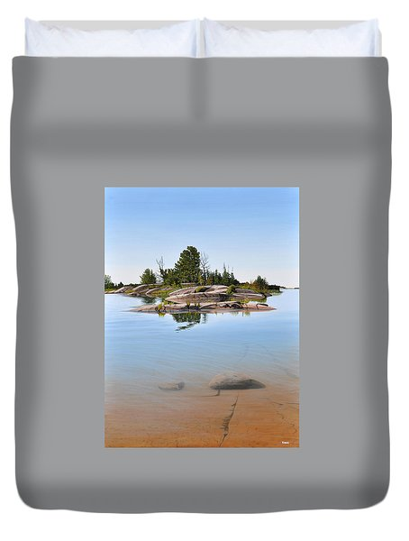 Duvet Cover featuring the painting Clear Contentment by Kenneth M Kirsch