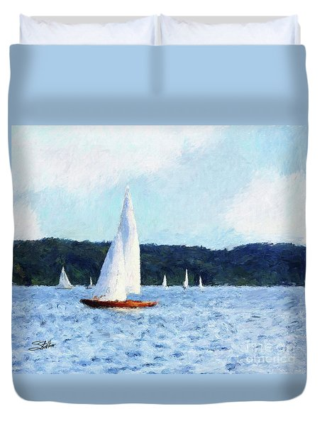 Clear Sailing Duvet Cover by Shirley Stalter