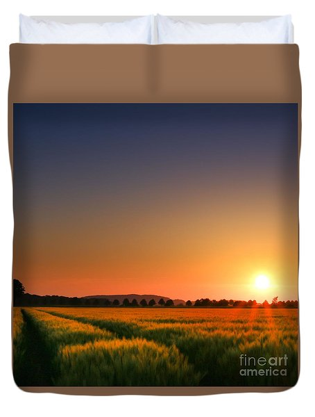 Clear Sunset Duvet Cover