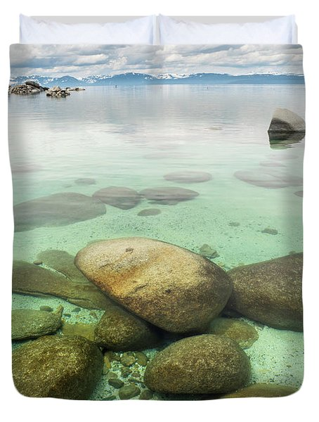 Clear Water, Stormy Sky Duvet Cover