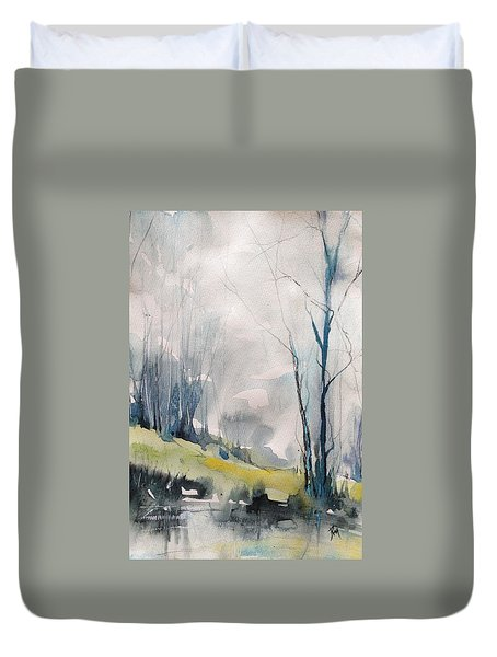 Clearing By The Riverbank Duvet Cover