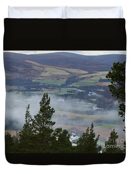 Mist At Tormore  Duvet Cover