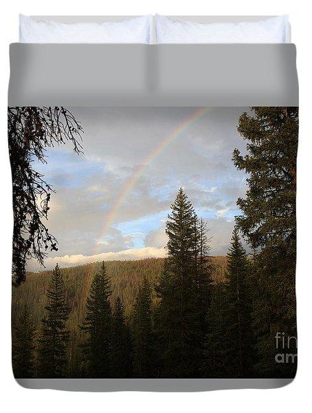 Clearing Rain And Rainbow Duvet Cover