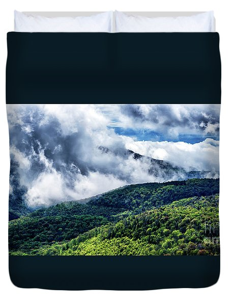 Duvet Cover featuring the photograph Clearing Storm Highland Scenic Highway by Thomas R Fletcher