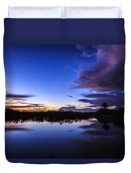 Clearing Storm Over The Anhinga Trail Duvet Cover by Jonathan Gewirtz