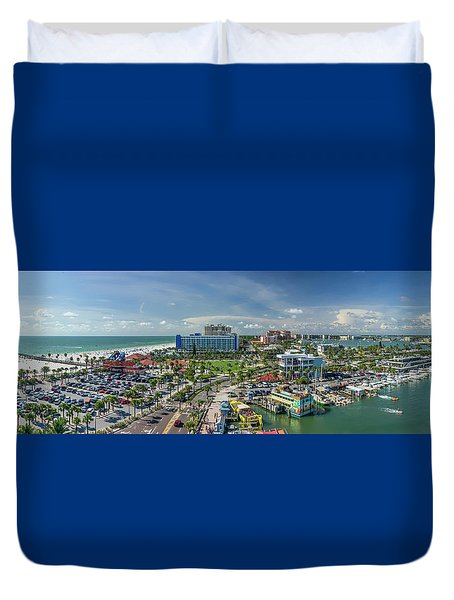 Duvet Cover featuring the photograph Clearwater Beach Florida by Steven Sparks