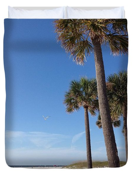 Clearwater Palms Duvet Cover